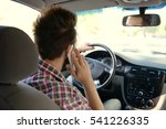 young handsome driver using... | Shutterstock . vector #541226335