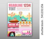various kind of transport for... | Shutterstock .eps vector #541231156