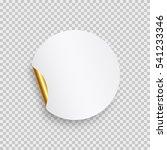 round paper sticker template... | Shutterstock .eps vector #541233346