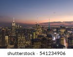 top of the rock  night view  at ... | Shutterstock . vector #541234906