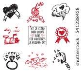 set of retro hand drawn icon...   Shutterstock .eps vector #541238428