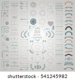 set of 200 colorful hand drawn... | Shutterstock . vector #541245982