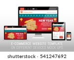 chinese new year sale web site... | Shutterstock .eps vector #541247692
