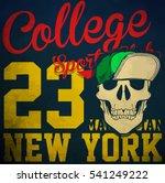 college skull t shirt graphic...