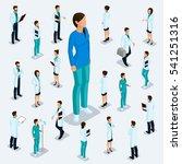 trendy isometric people.... | Shutterstock .eps vector #541251316