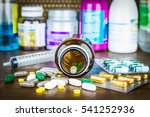 drug prescription for treatment ... | Shutterstock . vector #541252936