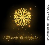 greeting card with sparkling... | Shutterstock .eps vector #541257232