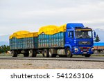 Small photo of O'HIGGINS, CHILE - NOVEMBER 19, 2015: Trailer truck MAN TGA at the interurban freeway.