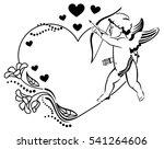 black and white heart shaped... | Shutterstock .eps vector #541264606