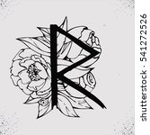old norse scandinavian runes.... | Shutterstock .eps vector #541272526