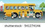 students are walking on the bus ... | Shutterstock .eps vector #541274146