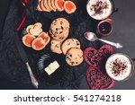 romantic breakfast. two cups of ... | Shutterstock . vector #541274218