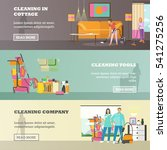 vector set of cleaning service... | Shutterstock .eps vector #541275256