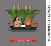Vector Illustration Of Cave...