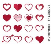 set of icons of red hearts.... | Shutterstock .eps vector #541280776