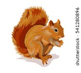 squirrel with nut | Shutterstock .eps vector #541280896
