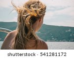 closeup of a blonde girl with...   Shutterstock . vector #541281172