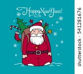 happy new year card with santa... | Shutterstock .eps vector #541281676