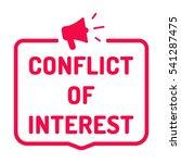 conflict of interest. badge ...   Shutterstock .eps vector #541287475