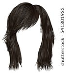 trendy  woman  hairs  dark ... | Shutterstock .eps vector #541301932