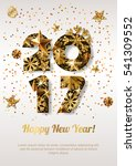 happy new year 2017 vector... | Shutterstock .eps vector #541309552