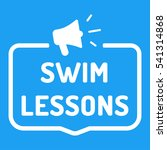 swim lessons. badge  stamp with ... | Shutterstock .eps vector #541314868