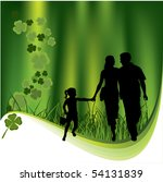 family and leaf clovers. nature ... | Shutterstock .eps vector #54131839