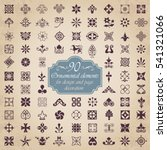 ornamental elements for design... | Shutterstock .eps vector #541321066