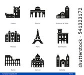 european capitals  part 1   ... | Shutterstock .eps vector #541323172