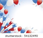 Red White Blue Balloons And 3d...