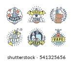 vector vaping badges  modern... | Shutterstock .eps vector #541325656