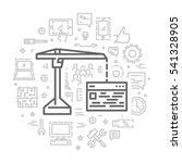 vector line concept for web... | Shutterstock .eps vector #541328905