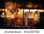 whiskey coctail with beutiful... | Shutterstock . vector #541330702