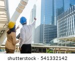 back view of architects... | Shutterstock . vector #541332142