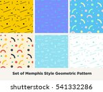 hipster fashion memphis style... | Shutterstock .eps vector #541332286