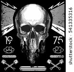 skull t shirt graphic design | Shutterstock .eps vector #541335316