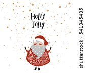 merry christmas card with cute...   Shutterstock .eps vector #541345435
