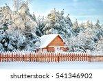 winter morning in russian... | Shutterstock . vector #541346902