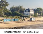 bathing huts on the beach  in... | Shutterstock . vector #541353112