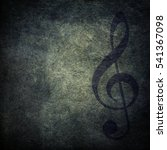 grunge musical background | Shutterstock . vector #541367098