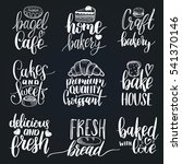 vector set of vintage bakery... | Shutterstock .eps vector #541370146