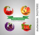 fresh fruits icon | Shutterstock . vector #541370302