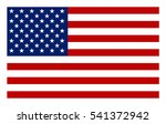 vector image of american flag.... | Shutterstock .eps vector #541372942