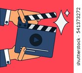 flat movie clapperboard symbol... | Shutterstock .eps vector #541373272