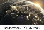 planet earth cosmic night view... | Shutterstock . vector #541373908