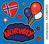 happy birthday norway   pop art ...   Shutterstock .eps vector #541380922