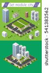 cityscape design elements with... | Shutterstock .eps vector #541383562