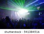blurry night club dj party... | Shutterstock . vector #541384516