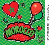 happy birthday morocco   pop... | Shutterstock .eps vector #541386472