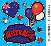 happy birthday australia   pop... | Shutterstock .eps vector #541386586
